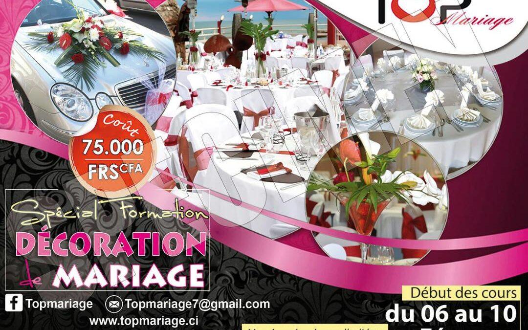 Formation en décoration mariage du 06/02/2018