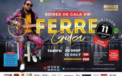 Soirée gala VIP FERRE GOLA du 11/11/2017
