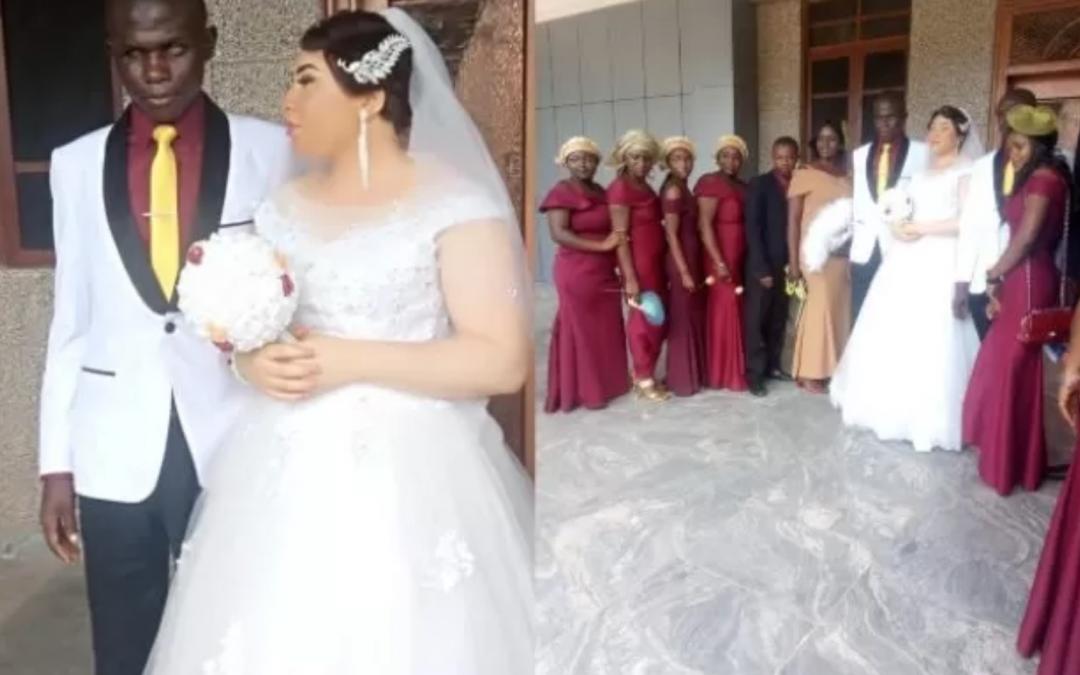 L'histoire inspirante d'une mariée et de son mari handicapé physiquement