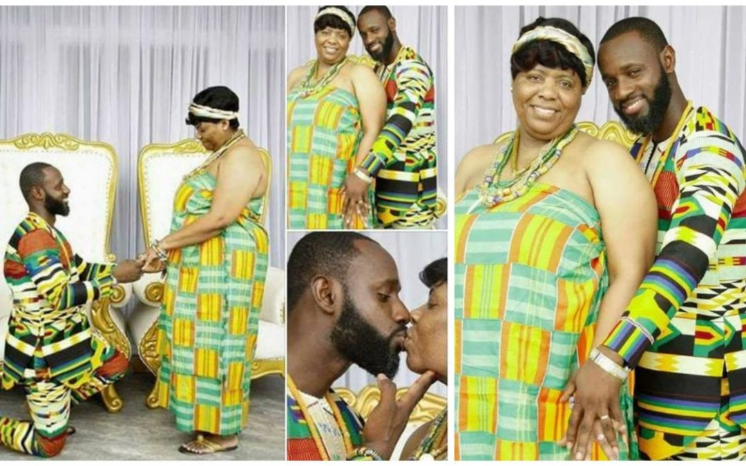 Photos de mariage romantique d'un marié et de sa mariée beaucoup plus âgée