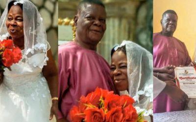 Une femme de 60 ans se marie pour la première fois à un riche homme d'affaire